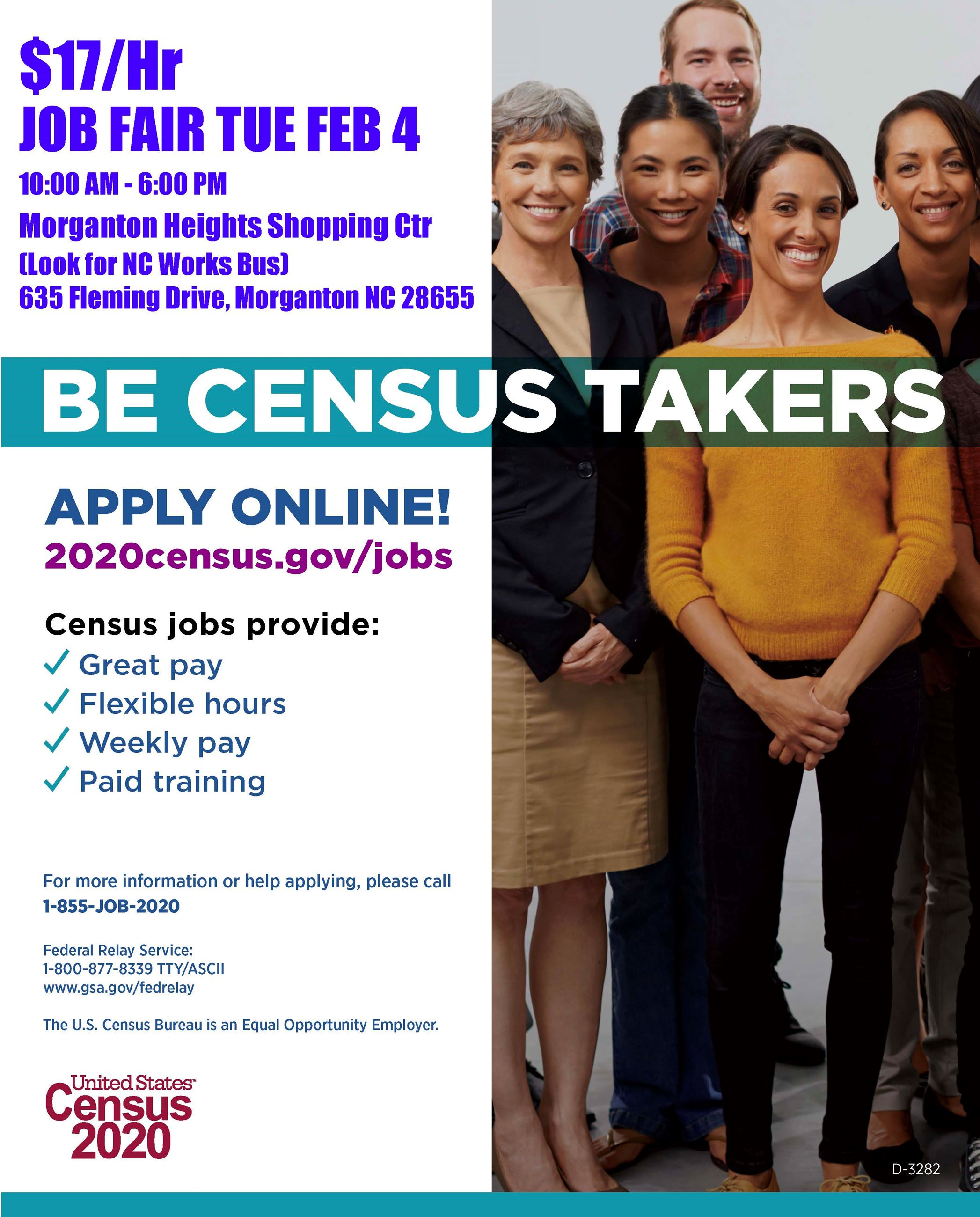 Census 2020 Job Fair - Feb 4