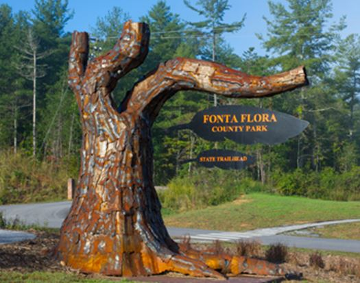 Fonta Flora County Park State Trailhead sign