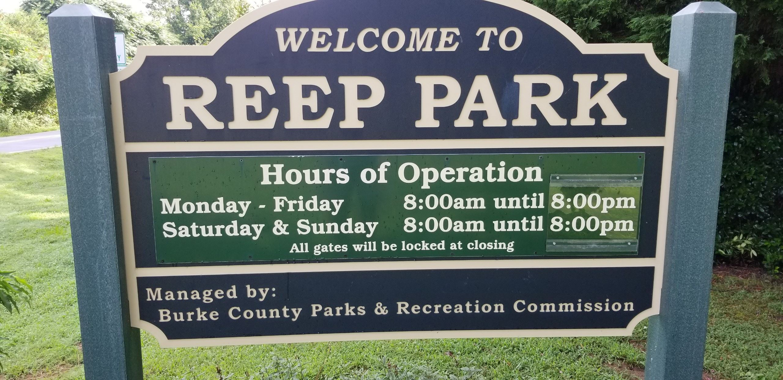 picture of the sign for Reep park