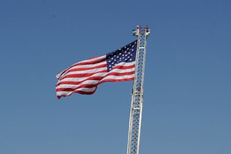 News American Flag on a clear day