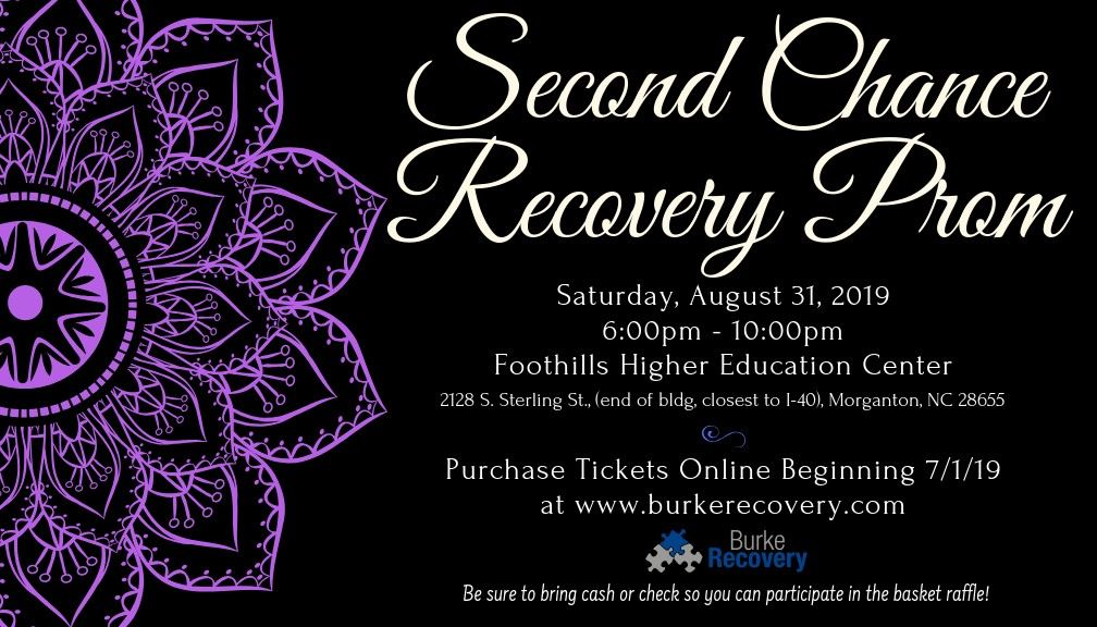 second chance recovery prom flyer