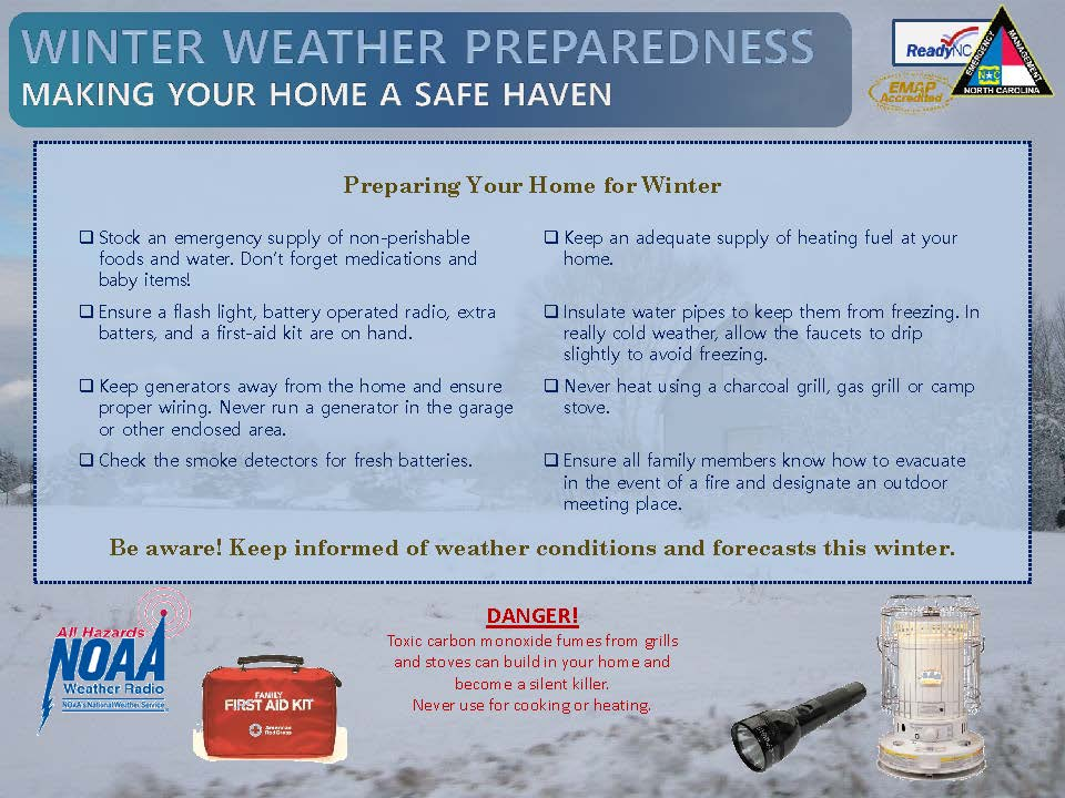 NCEM Winter Weather Preparedness (December 3 2019)